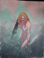 Esad Ribic - Red Sonja illustration Comic Art